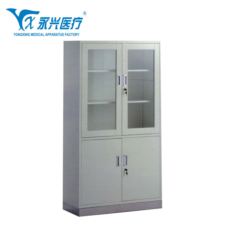 Hengshui Yongxing Hospital Cabinet Used Steel Storage Cabinets Sterilization Stainless Medical File Filing