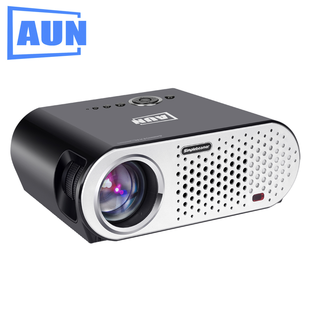 AUN Projector Android Wifi System 3200Lumens FHD TV led 3D Home Mapping Profile 3d Mini Projector