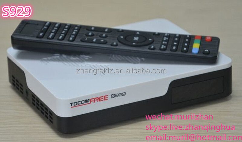 Black 45 Keys S929 Remote Control for tocomfree Satellite Receiver to South America Network Box Controls