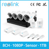 Reolink 8ch 1080P CCTV DVR Kit 4 2MP Full HD Bullet Cameras Wireless PIR Door Sensor Key Fob w 2TB HDD ADK8-20B4
