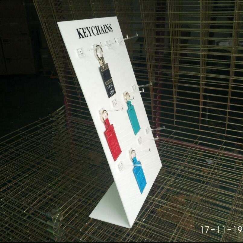 L Shape Acrylic Keychain Display Stand Keychain Holder Display With Hooks -  Buy Keychain Display,Acrylic Keychain Display Stand,Keychain Holder