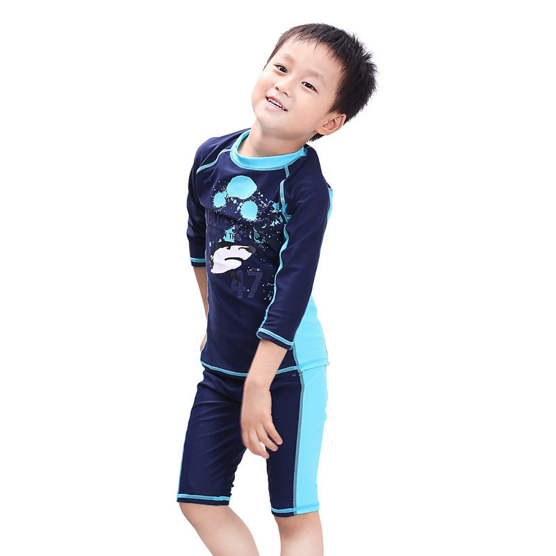d4076efcd4 2016 New Cute Swimming Suit for Boys Bathing Suit Professional Sports UV  Swimwear Children Boy Swim Trunks High Quality 2T 3T   Nice plus size  clothing shop ...