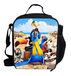 Hot Small Insulated Cooler Bags For Picnic For Children Boys RIO Blu and Jewel Scarlet Macaw Cooler Bag Lunch For Kids Girls