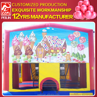 ZZPL Customized Inflatable Tent, Candy Land Bouncer For Sale BR-17