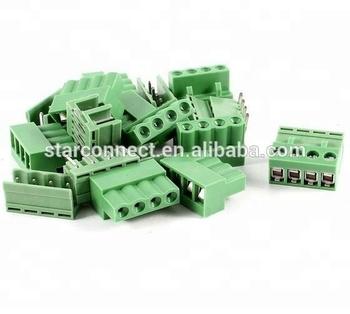 5 08mm Pluggable Type Green 6 Pin Angle Screw Terminal Block Connector -  Buy 6 Pin Screw Terminal Block Connector Manufacturer,Terminal Block