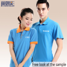 100% cotton T-shirt woman/ man clothes custom polo t-shirt printing