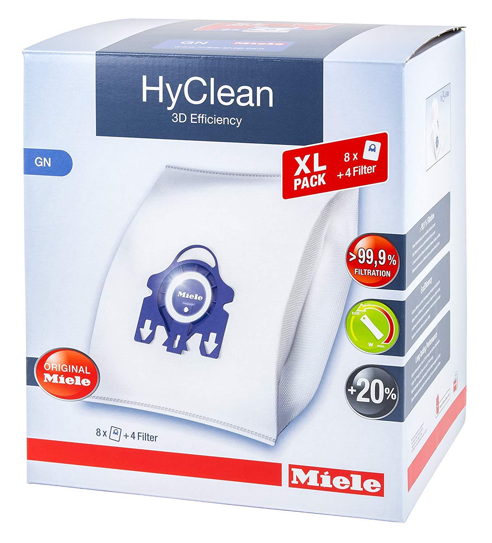 4 x MIELE FJM Dust Bags Genuine Original Hyclean Lifestyle Motor Filter Fresh