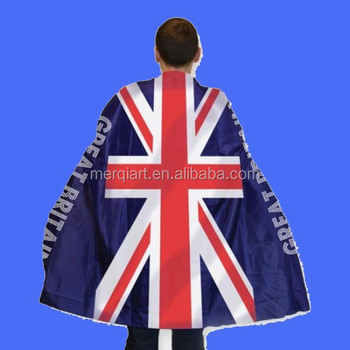 Adults Union Jack Flag Great Britain Body Cape London