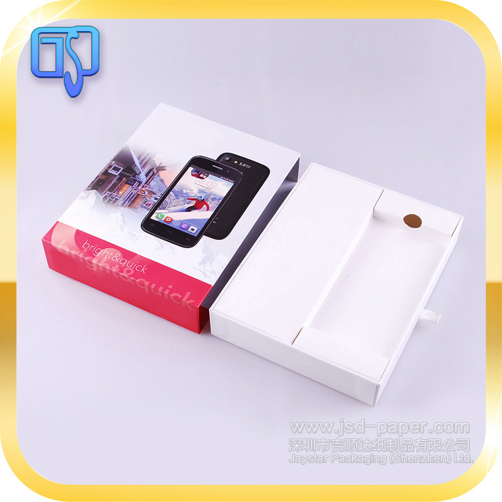 Paper drawer type with ribbon pulling all mobile unlock box