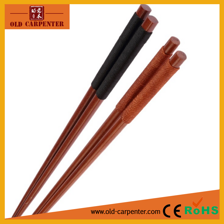 Factory wholesale Chinese wood chopsticks with thread wrapped