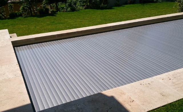 retractable polycarbonate swimming pool cover, retractable ...