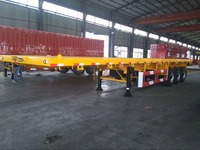 high quality 2 axles 3 axles 4 axles flat bed semi trailer for sale