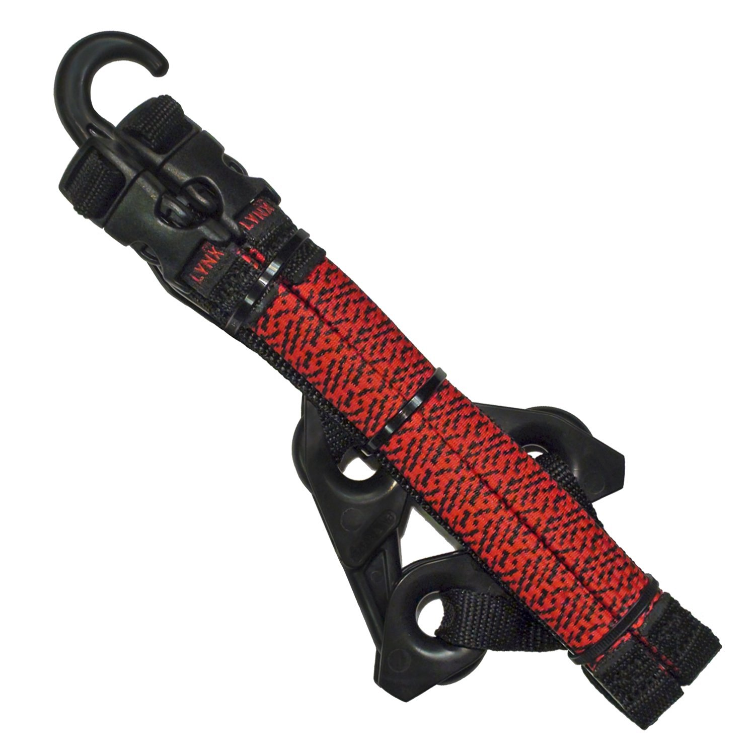 LYNX Hooks® Red Adjustable, Interlocking Gear Straps