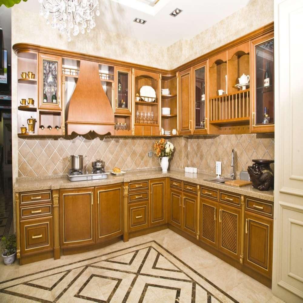 European Style Solid Oak Wooden Furniture Classic Neu Weiße Küchenschränke Im Stil Kae2