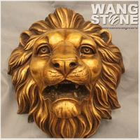 Life Size Bronze Indian Lion Head Wall Sculpture