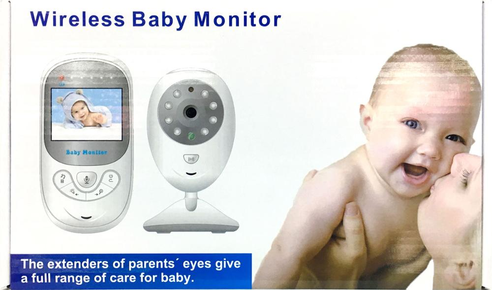 Two Way Talk Night Vision Temperature Monitoring 2.4 inch LCD 2.4GHz Wireless Digital Video Baby Monitor