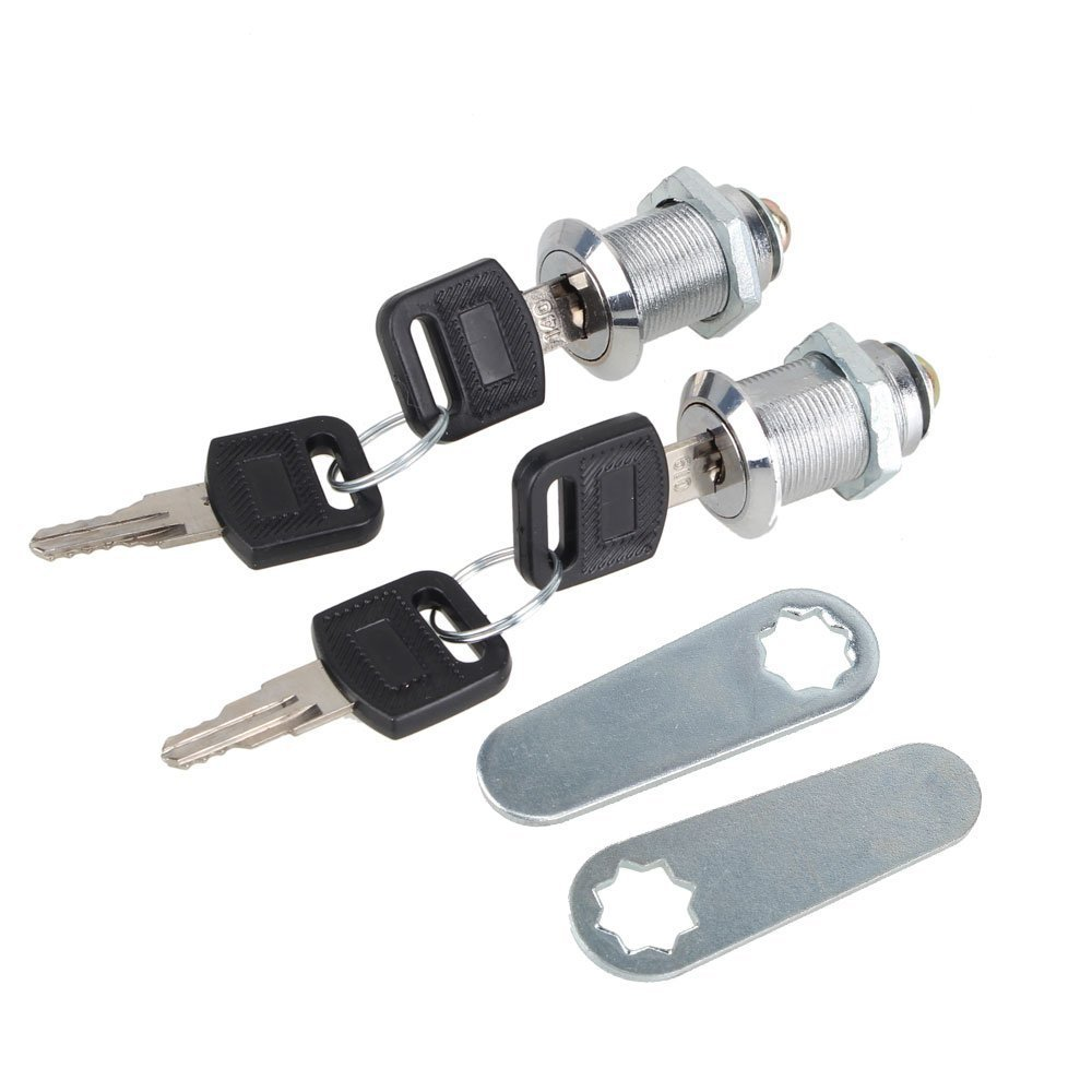 Locker,Ideaker Aluminium Alloy 25mm Cam Lock with Keys For Filing Cabinet Mailbox Drawer Cupboard Camlock Drawer Pack Of 2