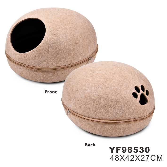 Manufacture Sale Customized Pet Felt Cat Bed Wool