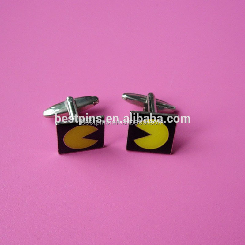Wholesale mens accessories custom engraved game <strong>logo</strong> cufflink with <strong>logo</strong>