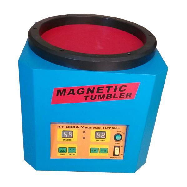 OUKANING M/áquina de Pulido de Joyas de Tambor magn/ético Pulidora de Tambor magn/ético