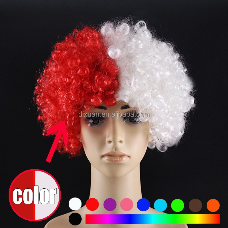 Football Fans Wigs World Cup Crazy Wig