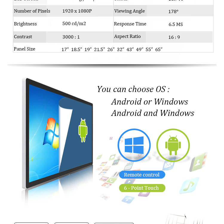 NEW Capacitive Screen 49inch Touch All In One Computer PC 40mm Ultrathin Desktop Wholesale
