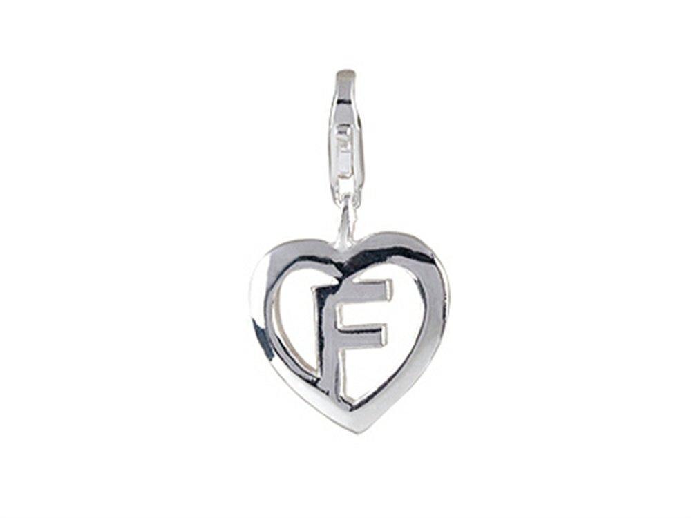 SilveRado Verado Sterling Silver Letter F Bead/Charm with Lobster Clasp