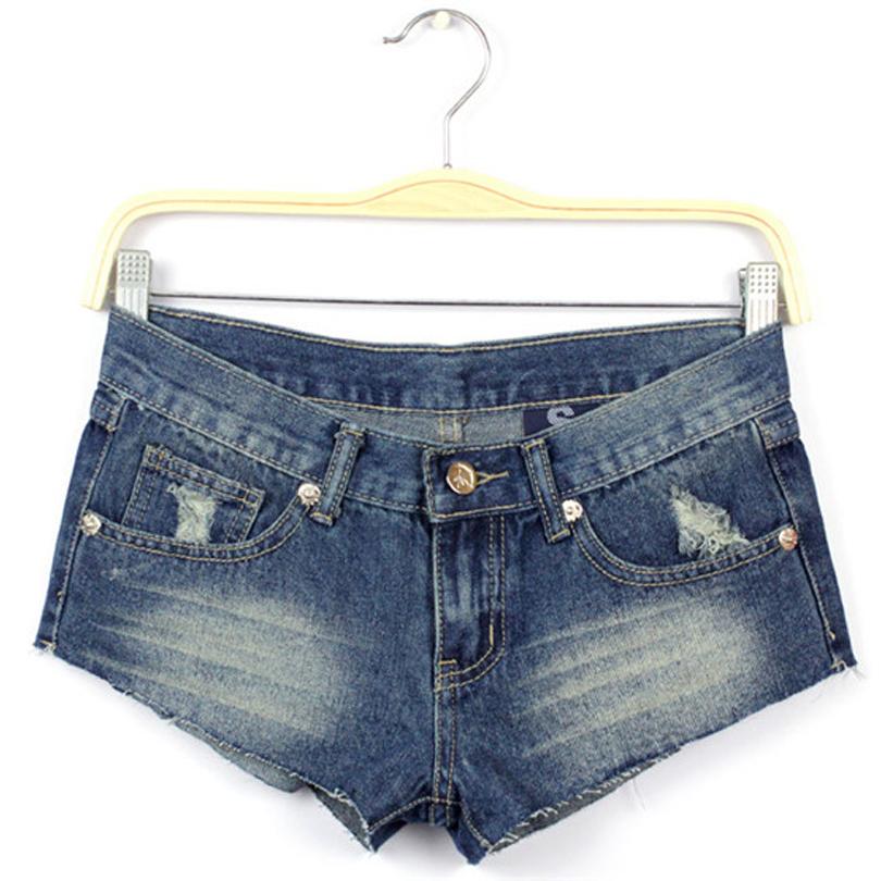 fe5e9cd05c71 Get Quotations · Sexy Women Mini Shorts Stars Print Geometric Holes Thin  Low-waist Spandex Soft Denim Shorts