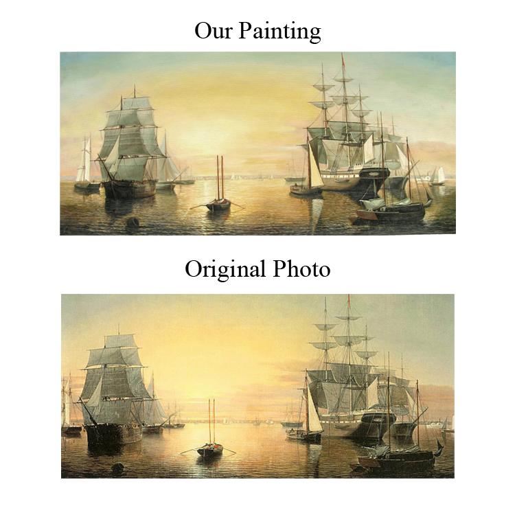 Populaire Bateaux Toile Noah De Peintures Bateau Bateaux Sur De Peintures Peintures Voiliers Sur La Peintures De Xiamen Toile Sur Art De Buy Plage nON80PwXk