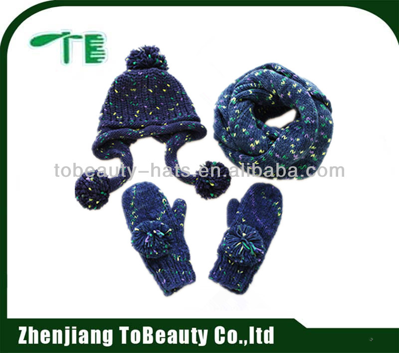 wholesale your own design hats gloves and scarfs sets