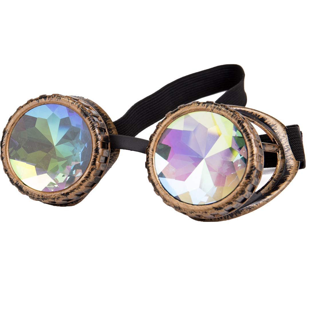 Kaleidoscope Rainbow Best Rave Glasses Prism Refraction Goggles for Festivals