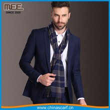 scarves manufacturer plaid men scarf in stock
