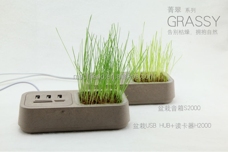 Grassy USB HUB with Card Reader