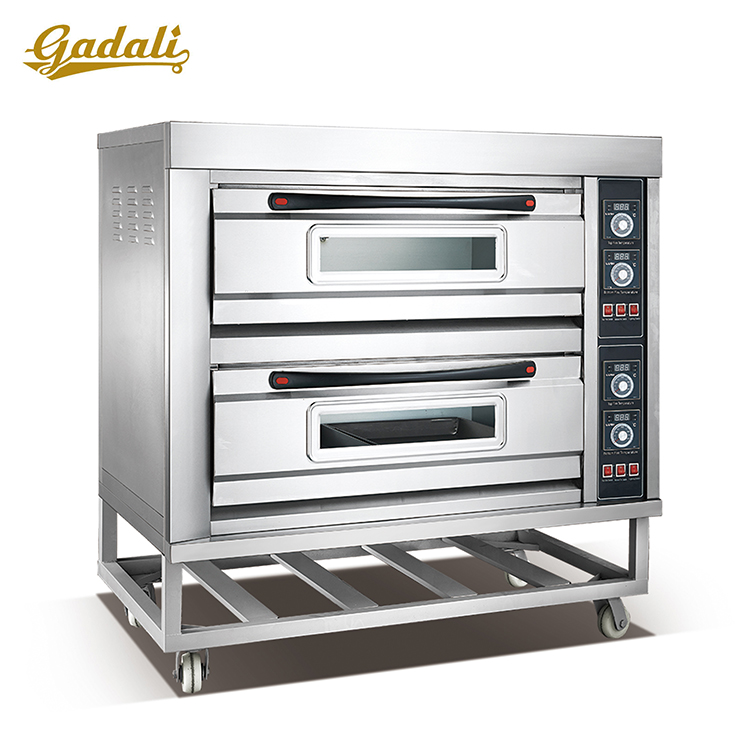 Baking equipment automatic 2-deck electric bread bake oven for pizza used