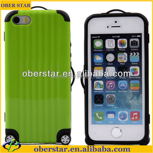 TPU+PC Luggage phone cases for iphone 5 5s 5g trunk cover celular with sticker for gift