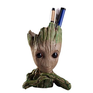 One Can Also Send Cute Crafts Baby GROOT Flower Pot Groot Pen Holder Student Desk Decoration