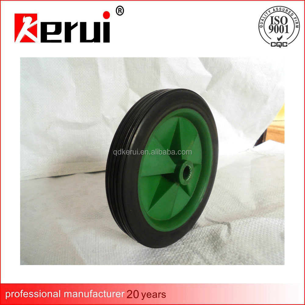 4 inch solid wheel solid rubber tire