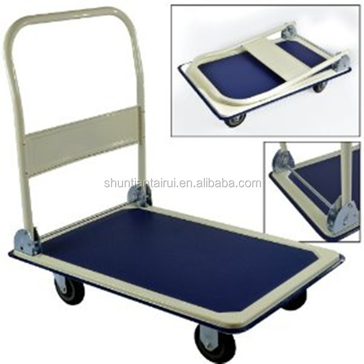 Heavy-duty Stainless Steel Platform Trolley Cart