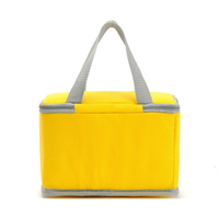 China custom durable 600D polyester beer can tote cooler bag/yellow insulated camping lunch bag