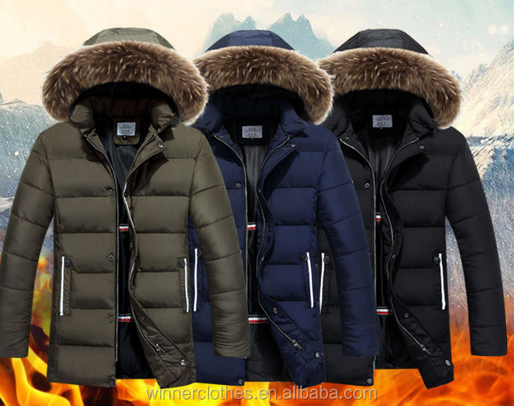 Winter Men Down Long Jackets Keep Warm Coat Casual Men's Thick Down Overcoat Jackets Parka