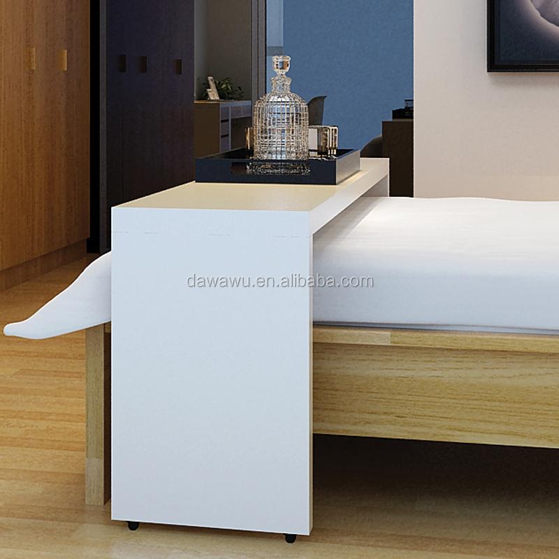 Witte hoogglans lak houten boven het bed tafel met wielen massagetafels product id 60221155348 - Bed tafel ...