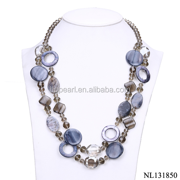 Big chunky necklaces wholesale two layer jewelry