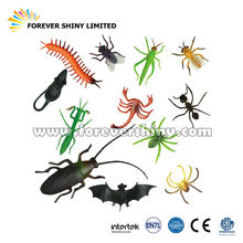 Promotional Novelty Small Capsules Bugs Toys Plastic Figure Fake Realistic Insects Figurine for Vending Machines