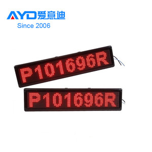 Hidly Hot Sale LED P10 32*96 Dots Red Indoor Scrolling Message Business Advertising Display for Clothing Shop&Supermarket
