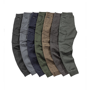 New Coming Autumn Multicolored Multi Pockets Washed Jogger Fashion Cargo Pants