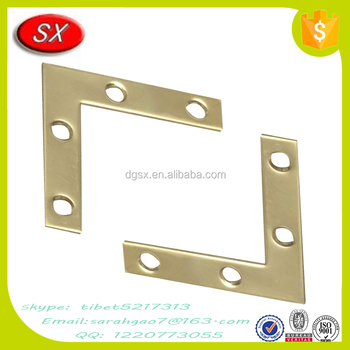China Supplies Solid Brass Flat Steel Decorative Corner Brace For Furniture  Hardware