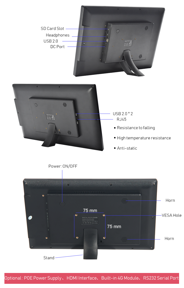 21.5 ''LCD Digital Signage RK3288 Android All In One Touch Screen Smart Tablet PC Voor Reclame