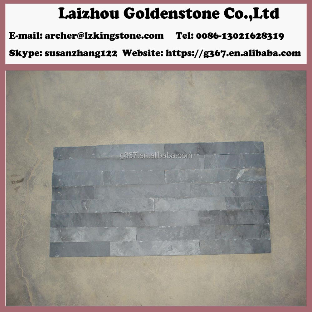 Chinese split surface slate stone cultural stones decaration stone on sale
