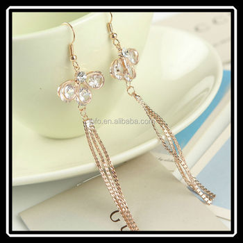 Brand New Types Long Tassels Dangle Earrings Gold Jewelry In Dubai