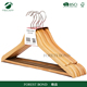 Garment display wooden clothes hanger rack for suit